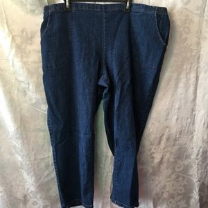 4X petite pull on jeans-Just My Size